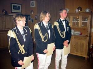 10 Jahre aktiver SZ - Rebecca Witt, Christel Schulze und Nils Haubold